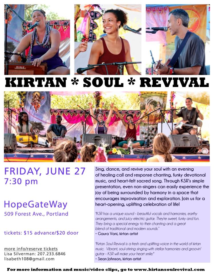 Kirtan Soul Revival in Portland!